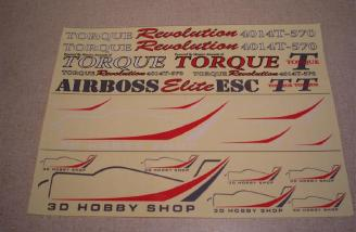 3D Hobby Shop includes a full complement of decals to personalize your Extra 300 SHP.