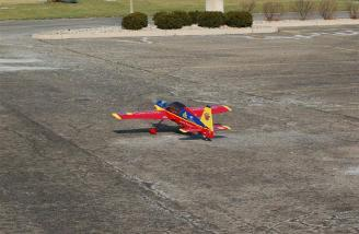My NPM Yak-54 on takeoff roll!