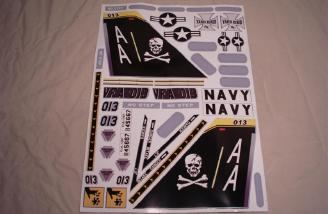 An awesome set of decals comes with every Yardbird RC F-18 kit.