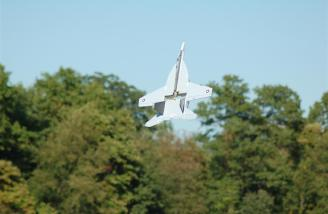 Hover practice with my Yardbird RC F-18.