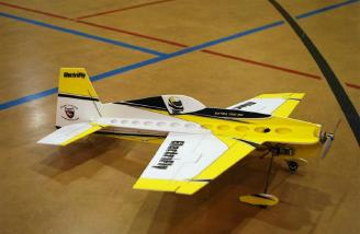 Completed Electrifly� Extra 330 SC ready for another flight.