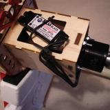 The Atlas 4020/16 and Atlas Black 75A speed controller mounted on the motor box.