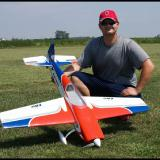 The author with his E-flite Extra 300 32e.