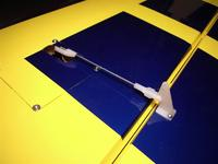 Final aileron servo setup.