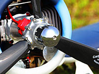 Adjustable pitch prop for 25 to 35 CC or 50 to 60CC gas engines.