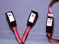 Servo Labels to make you servo connections easy.$1.99 + S&H
