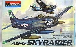 NIB AD-6 Skyraider in 1/48 scale by Monogram