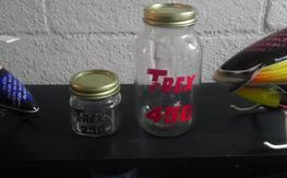 Custom Trex 450 / 250 Glass Parts Jars