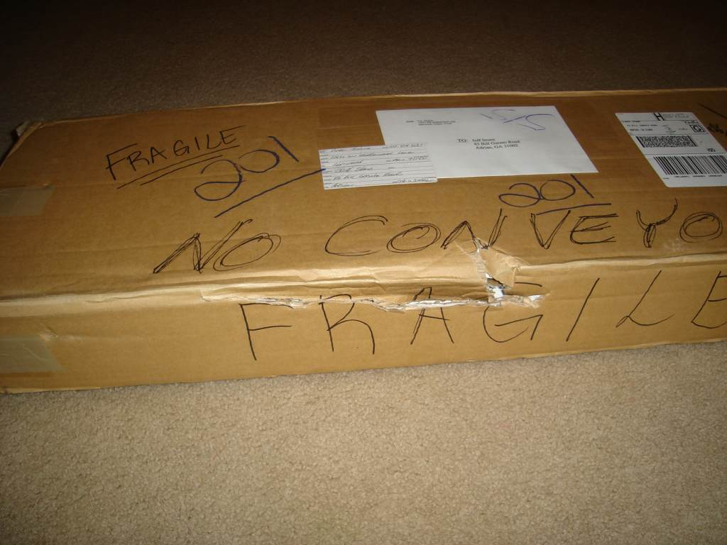 Fragile?  No conveyor?