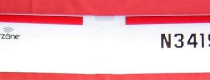 Picture of wing showing plastic rubberband reinforcments.