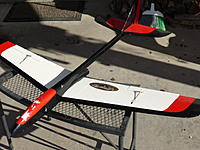 """Name: P1010750.JPG Views: 18 Size: 172.0 KB Description: Aerotech Phoenix Jet Sailplane. Uses a F-23 rocket motor. 49"""" sheeted wing.  Fast and WILD! Asking $30."""