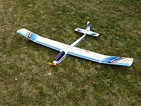 """Name: P1010737.JPG Views: 12 Size: 167.5 KB Description: E2 sports Electra electric sailplane 72"""" wing, brushed motor.  Plastic or composite wing? and reinforced foam box fuse. Asking $25."""