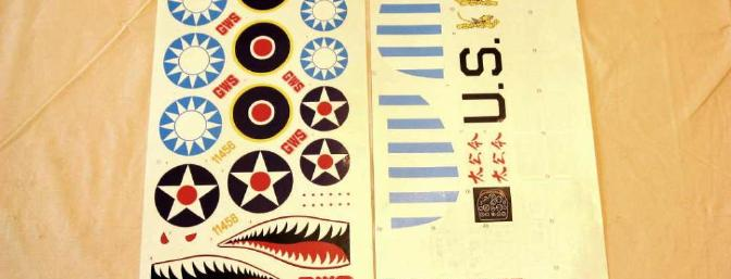 Decals are provided for Flying Tiger, British, and Yankee versions.