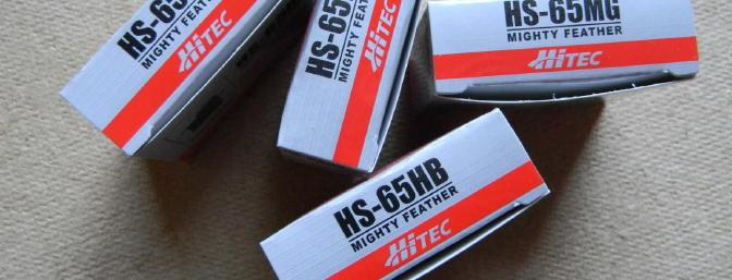 Stevens recommends these Hitec servos. They have been my choice for a long time.