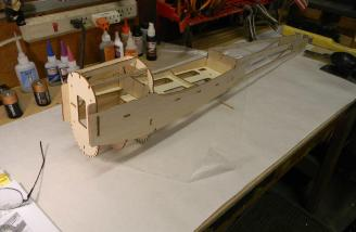 The sides attach to the fuselage core.