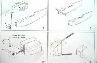 Drawings from the instruction book: Look at the size of the saw and what it was cutting (a toothpick!).