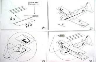  Drawings from the instruction book: What is indicated in #29 is far from self-evident.