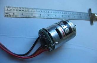 Junior is designed around 280 or 300 size motor. Hobby Lobby recommends this Graupner Speed 300 motor with integral ESC.