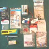 Hobby Lobby sells these items to complete the kit. Notice the UHU Por. This is an excellent adhesive for use on this model.