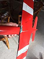 Name: Bottom Delamination view.jpg Views: 63 Size: 120.8 KB Description: Wing is off the fuse at the LE.