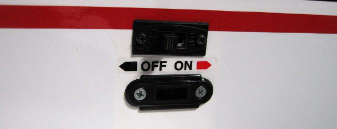Nice options for labeling receiver switch