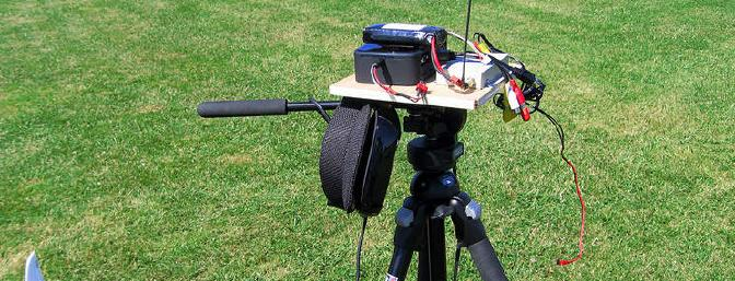 Basic components mounted on a tripod