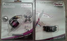 Hacker A20 and X-12 ESC BNIB