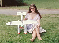 Name: Heidi and floatplane.jpg