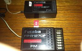 Futaba FP-R148DF Micro  8 channel  receiver and FP-R127DF receiver