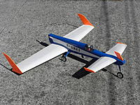 Name: DSCN0799.JPG Views: 6 Size: 463.8 KB Description: Regular canard with CG between leading edge and pilot. Canard is 30% area of main with 3.5 degrees incidence. Good yaw stability.