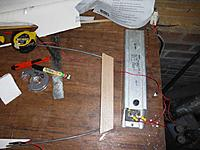"""Name: wire bow1.jpg Views: 90 Size: 76.5 KB Description: My cutting setup. An old downlight transformer with a dimmer switch set up by an electrician mate. Seems to work ok so far. Not sure if it'll handle a 30"""" wing panel yet."""