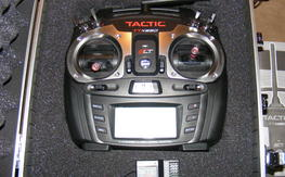 New Tactic TTX650 Transmitter, 6 Ch receiver and carrying case