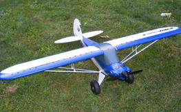 Eflite Carbon Cub with two 6S 5000 lipos