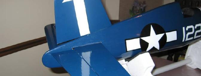 Tail and rudder secured onto the fuselage