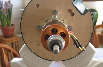 Motor mounted to the firewall