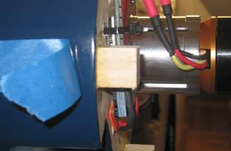 Tape peeled back to reveal the block
