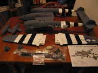 Name: IMG_0330_resize.jpg Views: 1410 Size: 52.3 KB Description: parts laid out, wings and center section bottom view