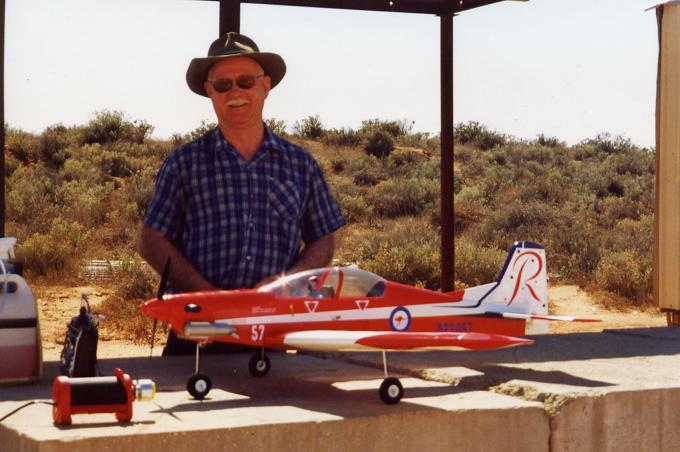 Dennis and his PC9 in the desert Northern South Australia R.I.P. mate. 12/03/2012