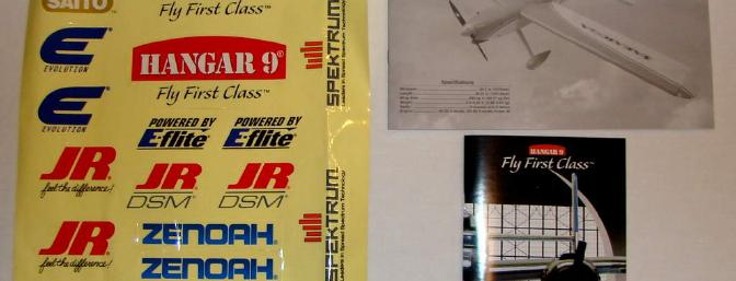 Decals, 40-Page Manual, and Product Booklet