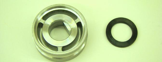 Back of the Drive Hub and Thrust Washer