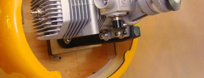 Note throttle pushrod tube location