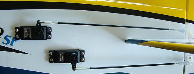 <b>Carbon fiber stiffeners on elevator and rudder pushrods</b>