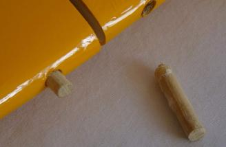 One dowel pulled out.