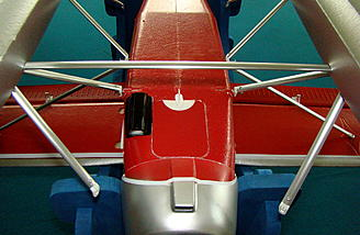 <b>Additional clearance provided by swinging the outer braces away from the fuselage.</b>