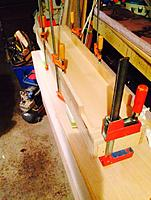 Name: Trued MDF being adhered to the substrate.jpg Views: 55 Size: 178.0 KB Description: