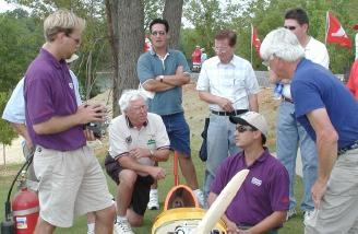 Pat Hartness, with Jason Shulman, Eddie Clark, and Sean Plummer around the 40%er.