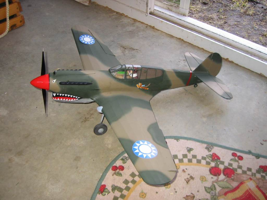 My current build Guillow P-40