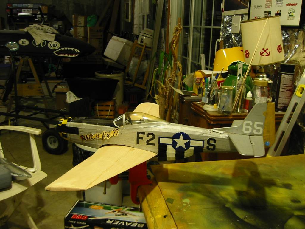 My latest project Guillows P-51