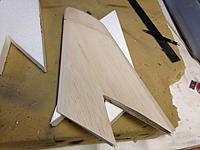 Name: IMG_0945.jpg Views: 55 Size: 553.3 KB Description: shaped and ready for plotting the rudder cut out