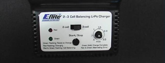 The charger is adjustable from .5 amps to 3.0 amps